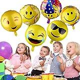 PovKeever Emoji Party Luftballons 1...