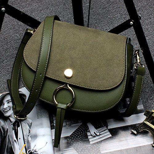 GUANGMING77 _Sattel Tasche Handtasche Schultertasche Scrub Ring, Militär Grün