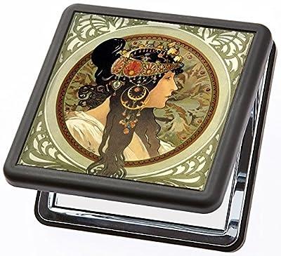 Taschenspiegel Mucha - Die Brünette von Artis Vivendi