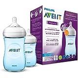 Philips Avent Natural Flasche, naturnahes Trinkverhalten, Anti-Kolik-System, 260ml, versch. Farben, Doppelpack