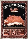 Vintage Travel Orient Express für London, Calais, Paris,