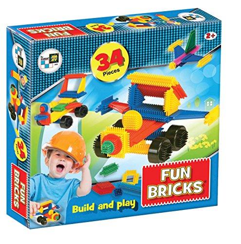 Beluga Spielwaren 2428 Fun Bricks - Noppenbausteine 34 Teile