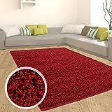 Teppich Shaggy Hochflor Einfarbig Flokati für verschiedene Zimmer Günstig Angebot Rot 60x100 cm