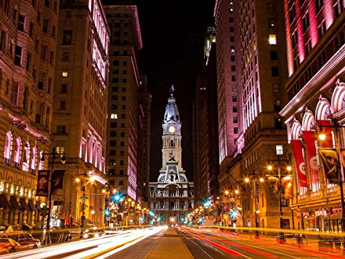 Doppelganger33 LTD Photo Cityscape City Hall Philadelphia Pa Canvas Art Print -