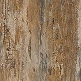 Selbstklebende Folie Klebefolie für Möbel Küche Tür & Deko Möbelfolie Holz Holzoptik verschiedene Dekore & Breiten Länge: 5m - 10m - 15m inkl. Rohr-Trading.SURFACES Filzrakel I Holz vintage rustikal shabby - Rustik [15m x 90cm]