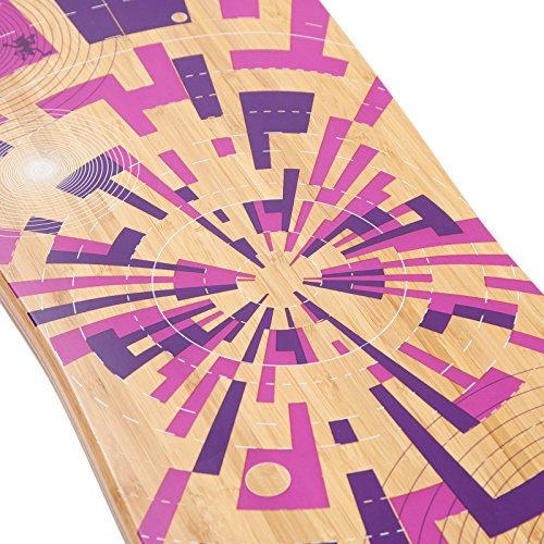 Apollo Twin-Tip Drop-Thru Longboard, Soul Bamboo, Flex 3, 101,8 cm (40inch) x 24 cm (9,5inch) -