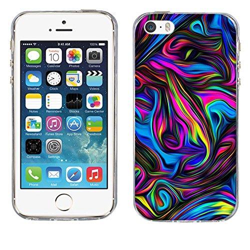 Custodia Apple iPhone 5 5S 5SE, Fubaoda iPhone 5 5S 5SE Bumper Case, Immagine vivida [super luna] Morbida Flessibile Estremamente TPU Gel Sottile Pelle Trasparente Antigraffio Protezione Cover per App pic: 17