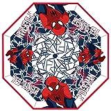 Chanos Chanos Marvel Automatic Fiber Poe Transparent Folding Umbrella, 46 cm, Red Regenschirm, Rot (Red)