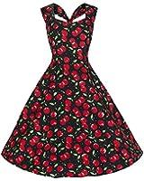 Pretty Kitty Fashion 50s Kirsche Baumwolle drucken Swing-Kleid