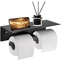Porte Papier Toilette, Support Papier Toilette Mural avec Double Rouleau pour Tous Les Types de Papier Toilette, Support…