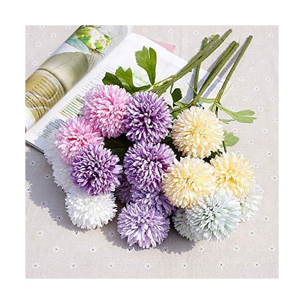 Whiie891203 – 1 Pieza de crisantemo Artificial para decoración de Bodas, hogar y Flores, Color Rosa