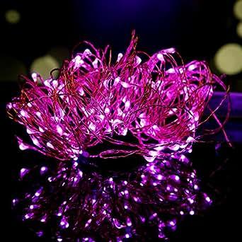 Lampada Striscia, OSAN Luci Lampade Striscia a Batteria 3MT 30 LED 4.5V per Feste Natale Halloween Decorazione Casa Giardino Viola