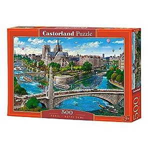 CASTORLAND Paris- Notre Dame 500 pcs Puzzle - Rompecabezas (Puzzle Rompecabezas, Ciudad, Niños y Adultos, Niño/niña, 9 año(s), Interior)