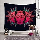 QEES, tappeto da parete in stile indiano, con sole e luna, per dare alla vostra stanza una sensazione esotica GT38, 6#, 200×150cm