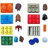ECOSWAY - Set di 8 stampi in silicone per vassoio di ghiaccio Star Wars, per cioccolatini, Stormtrooper, Darth Vader, X-Wing
