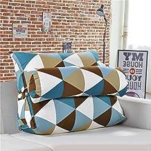 Cojín triangular para sofá o cama o como respaldo para despacho, tamaño grande, lavable, protege el cuello, multifunción, de buena calidad, 55x 50x 30cm, triangle en 4 couleurs, 60x50x25CM
