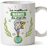 Mugffins Mamie Mug/Tasse - La Meilleure Grand-mère du Monde - Tasse Originale/Cadeau Anniversaire/Fête des Mères/Future Mamie