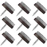 Viltglijders schroeven, 80 stuks viltglijders spijkers, viltdoppen met spijkers 22 mm, stoelpootbeschermers meubelglijders pa