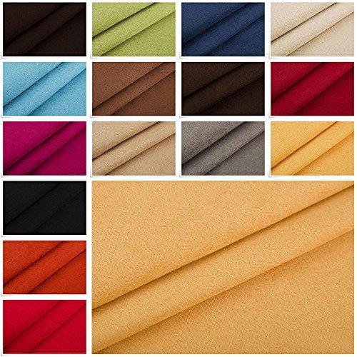 Edge Nubuk Meterware Microfaser Velours Wildleder Möbelstoff Polsterstoff (10 Gelb) Nubuk-textil