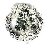 couronne de noël avec effet neige (33cm)