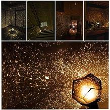 lampara proyector estrellas, proyector planetario educativo color oro by Sannysis
