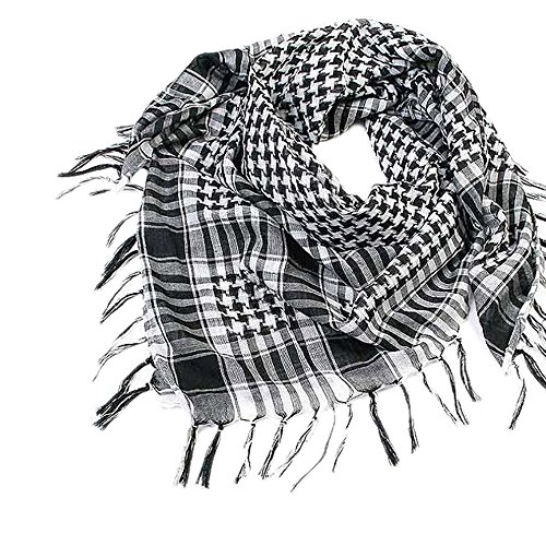 Yvelands Schal Wrap Unisex Mode Frauen Männer Arabischen Shemagh Keffiyeh Palästina Schal Schal Wrap(Schwarz)