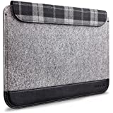 """Inateck Ultra Slim 11-11.6 Inch MacBook Air Sleeve Case with Magnetic Closure for Macbook Air 11"""", A Small Pouch Included, Grey"""