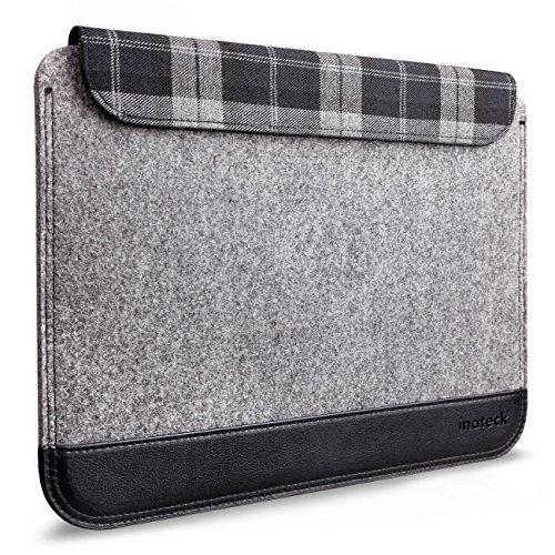 Inateck 11 Zoll Ultraschlanke Filzhülle für Macbook Air, Magnetverschluss, Grau (Plaid Laptop-rucksäcke)