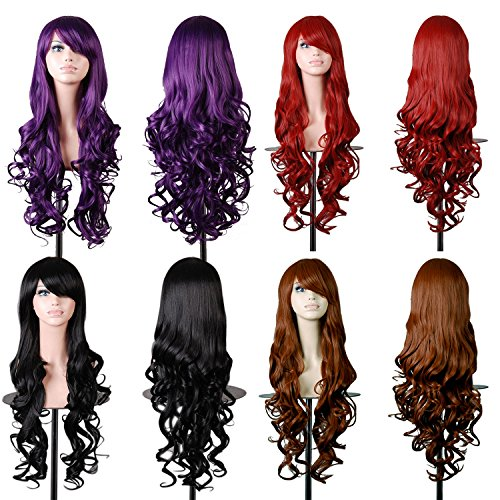 Vococal-80-cm-Fashion-Cosplay-color-longue-perruque-cheveux-boucls-Extensions-pour-Masquerade-Party-Halloween-Nol