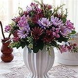 DSAAA künstliche Fake Blume Emulation Keramik Vasen Wedding Bouquets Kunststoff Bonsai Kit pro Aktie Lila