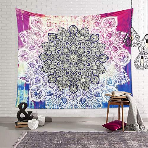 Dremisland Indischer Hippie Wandteppich Wandbehang Mandala Blume Tapisserie Bohemien Orientalisch Psychedelic wandteppich zum Schlafzimmer Wohnzimmer und Wohnkultur (Muster 3, L/203x153cm(80x60inch))