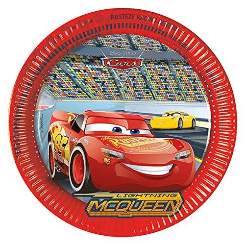 Generique - Cars 3-Pappteller 8 Stück Bunt