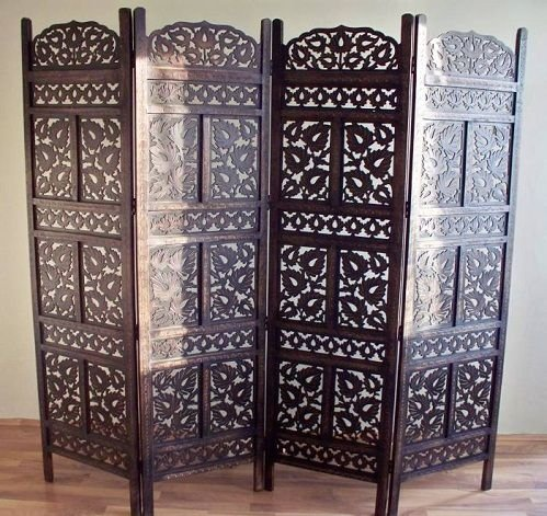 Craftatoz Wooden Partitions Wood Room Divider Partition for Living