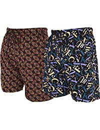 BUMCHUM BERMUDA for Boys & Men's WITH POCKET(MIX PRINT & COLOUR) (PACK OF 2)