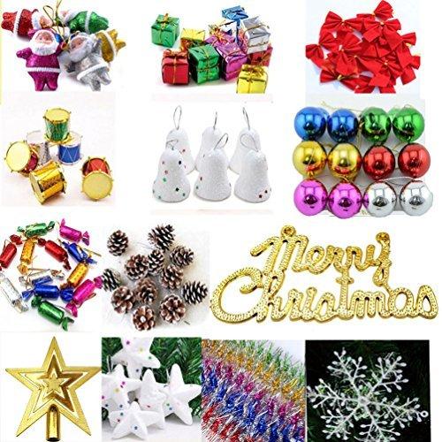 yingjin Weihnachtsbaum Dekorationen Ornaments Geschenk-Boxen Topstar Schleife Santa Claus Christmas Ball 15Stil -