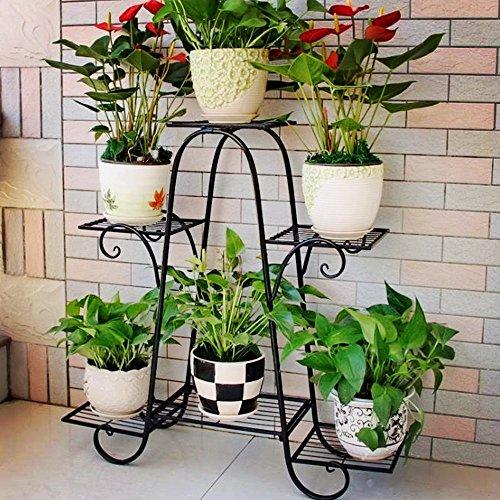 Malayas a 6piani in stile europeo ferro Flower pot stand ripiani Garden alzata porta piante espositore per esterni e interni, decorazione