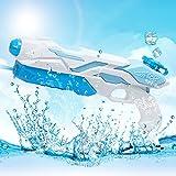 MOZOOSON Wasserpistole Spielzeug für Kinder mit Langer Reichweiter Freezefire für Kinder Mädchen Junge ab 3 Jahr 10-12 Meter Reichweiter 800ML Blau XXL Eiswürfel Geeignet