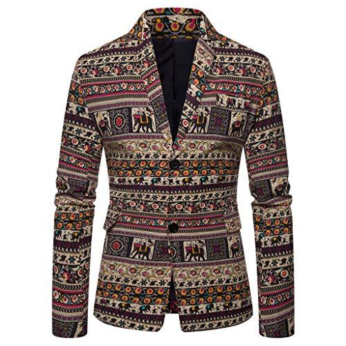 - Knopf-front Blazer Jacke (Herren modisch Freizeit Blazer Slim Fit Business Lässig EIN Knopf Jacke Blazer Anzug Casual Jacke Modisch Freizeit Outwear Mix)