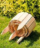 Floranica® Bordure Rollborder déroulable de 200 cm de longueur, hauteur de la bordure 20 cm en bois comme délimitation de plates-bandes, pelouse ou comme palissade - imprégnée et résistante aux intempéries, Couleur:nature