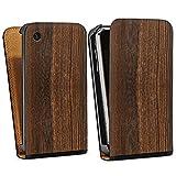 DeinDesign Apple iPhone 3Gs Étui Étui à Rabat Étui magnétique Look Bois de Noyer
