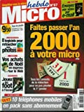 Micro hebdo - n°87 - 16/12/1999 - Faire passer l'an 2000 à votre micro...