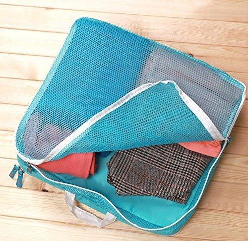 iknowy 5x Wasserdicht Kleidung Aufbewahrungsbeutel Verpackung Cube Travel Gepäck Organizer Tasche