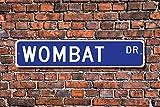 Wombat Geschenk Zeichen, Decor Lover Beuteltier Native zu Australien Home Dekoration Wandschild Metall alunimum 45x 10cm