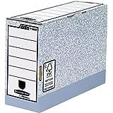 Fellowes Bankers Box - Caja de almacenaje (tamaño folio, montaje rápido, lomo de 120mm, 10 unidades), color gris