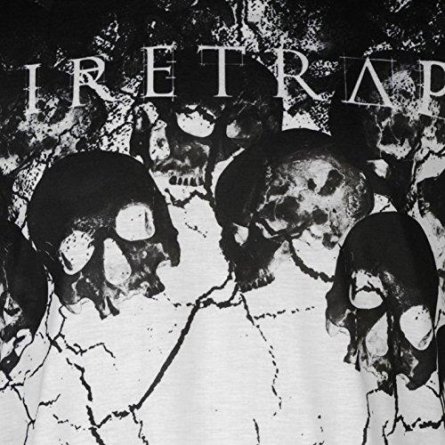 Firetrap Herren Sub T Shirt Kurzarm Rundhals Grafik Print Motiv Freizeit Totenköpfe