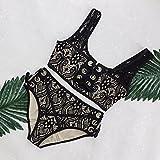 Frauen Bikini 2018 zwei Stücke Sexy Bademode Set Design Neckholder dorsalen cross Design Hand knitting schön und sexy Die perfekte Körper bikini, schwarz, M zu zeigen
