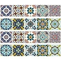 Homyl 20 Unidades Mosaico Azulejos Murales Pegatina de Cocina Baño a Prueba de Agua - # 1 15x15cm