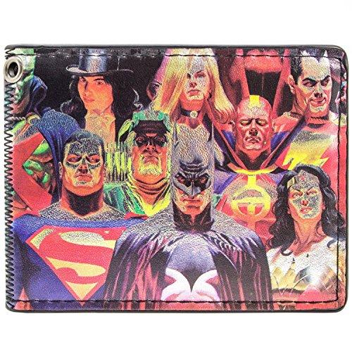 DC Comics Brillante Argent Multicolore Portefeuille