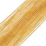 Sweet & Happy Girl'S Store 2mm Round Gemstone Yellow Citrine Seed Beads Strand 15 Inch Jewellery Making Beads