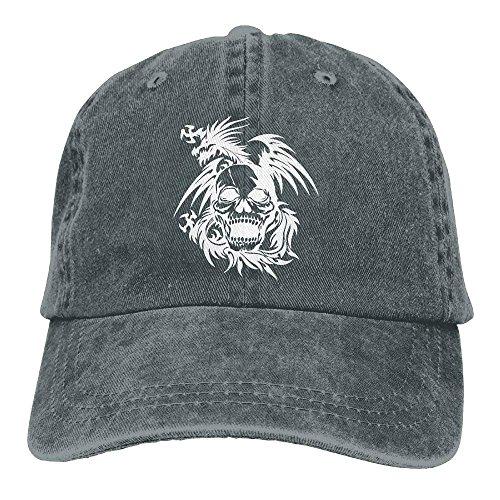 fboylovefor Men and Women Skull Dragon-1 Vintage Jeans Baseball Cap